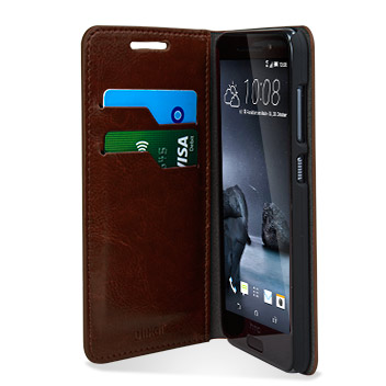 Olixar Leather-Style HTC One A9 Wallet Stand Case - Brown
