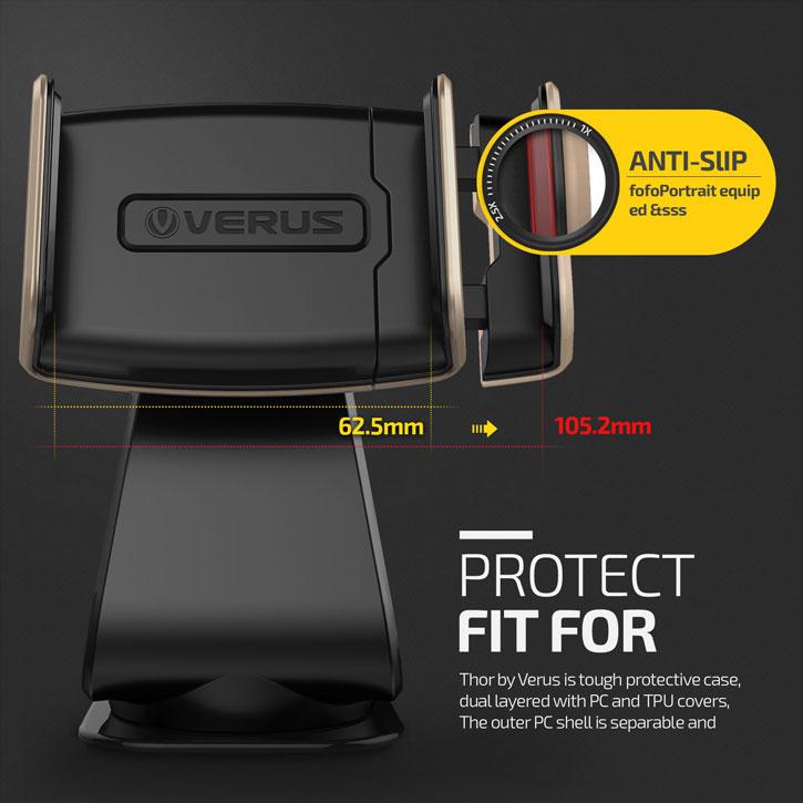Verus Hybrid Grab Universal In-Car Mount - Gold / Black