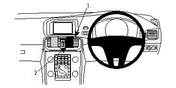 Brodit ProClip Centre Mount - Volvo V40 13-16