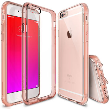 Rearth Ringke Fusion iPhone 6S / 6 Case - Rose Gold Crystal