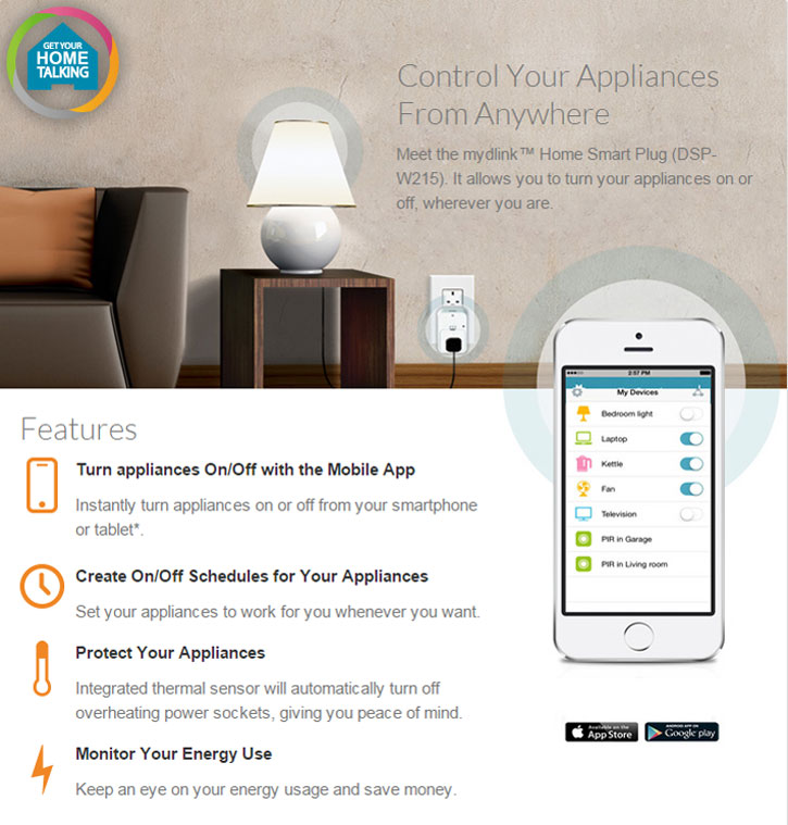 D-Link App Controlled Smart Plug for iOS & Android Devices ...