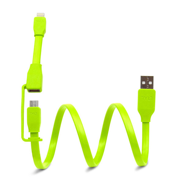 Tylt Syncable-Duo Charge & Sync Cable - Black