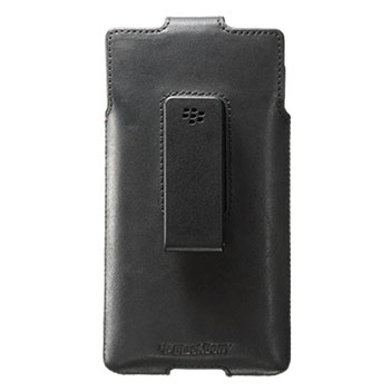 Official Blackberry Priv Leather Swivel Holster Case - Black