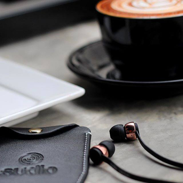 Sudio Vasa Rose Gold Earphones For iOS - Black