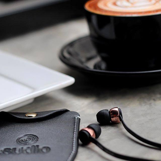 Sudio Vasa Rose Gold Earphones For iOS - Black