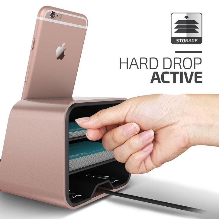 Base de Carga Verus i-Depot para Smartphones y Tablets - Oro Rosa
