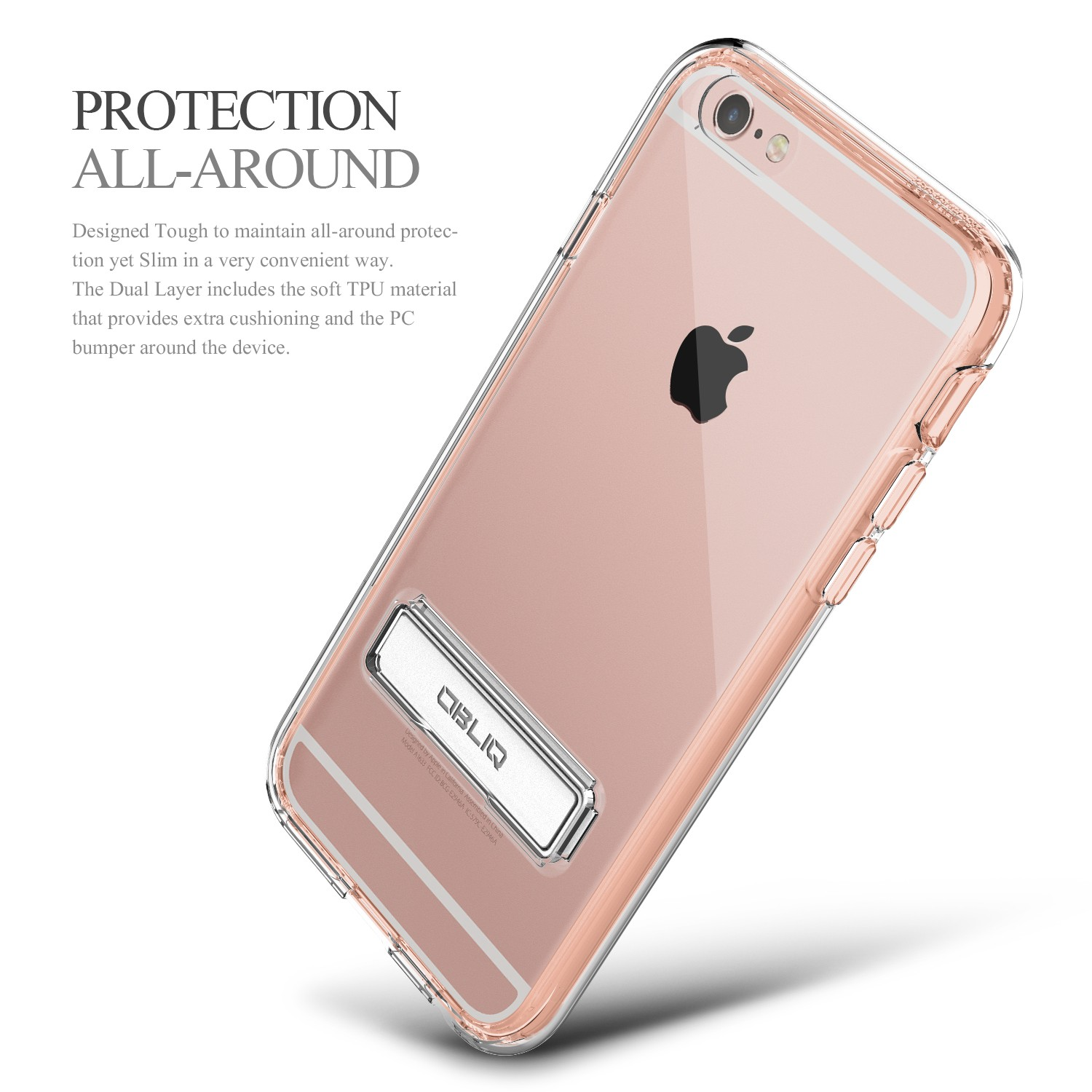 obliq naked shield iphone 6 6s case rose gold. Black Bedroom Furniture Sets. Home Design Ideas