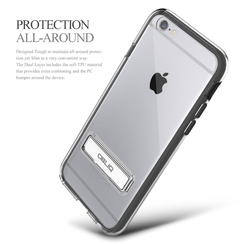 Obliq Naked Shield iPhone 6/6S Case - Black