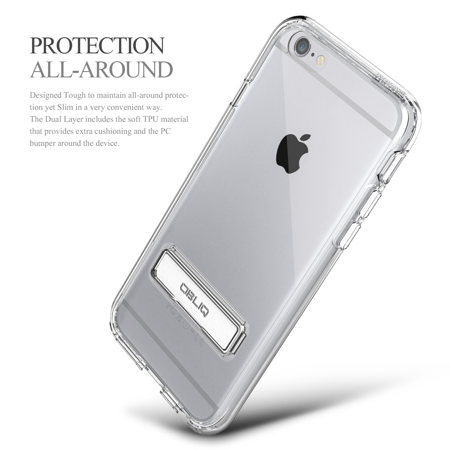 hot sale online 83af4 aa21e Obliq Naked Shield iPhone 6S Plus / 6 Plus Case - Clear