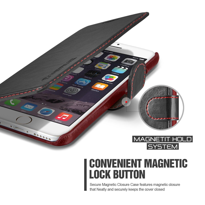 Verus Dandy Leather-Style Samsung Galaxy S6 Wallet Case - Black