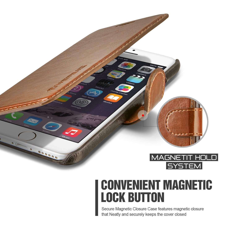Verus Dandy Leather-Style Samsung Galaxy S6 Wallet Case - Brown