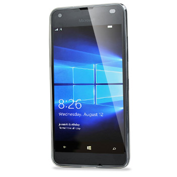 FlexiShield Ultra-Thin Microsoft Lumia 550 Gel Case - 100% Clear