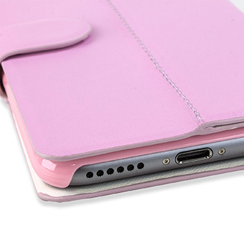 X-Fitted Magic Colour iPhone 6S / 6 View Case - White / Pink