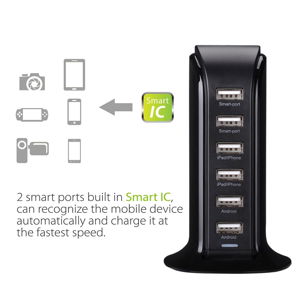 Avantree PowerTower Desktop USB Charger - Black