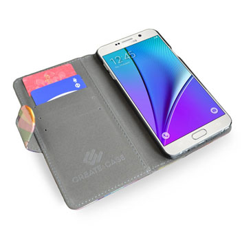 Create and Case Samsung Galaxy Note 5 Stand Case - Colourflash