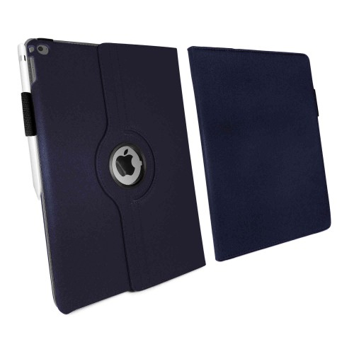 Tuff-Luv Leather Style Rotating iPad Pro Case - Navy