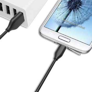 Olixar 10cm Micro USB Sync and Charge Cable - Black
