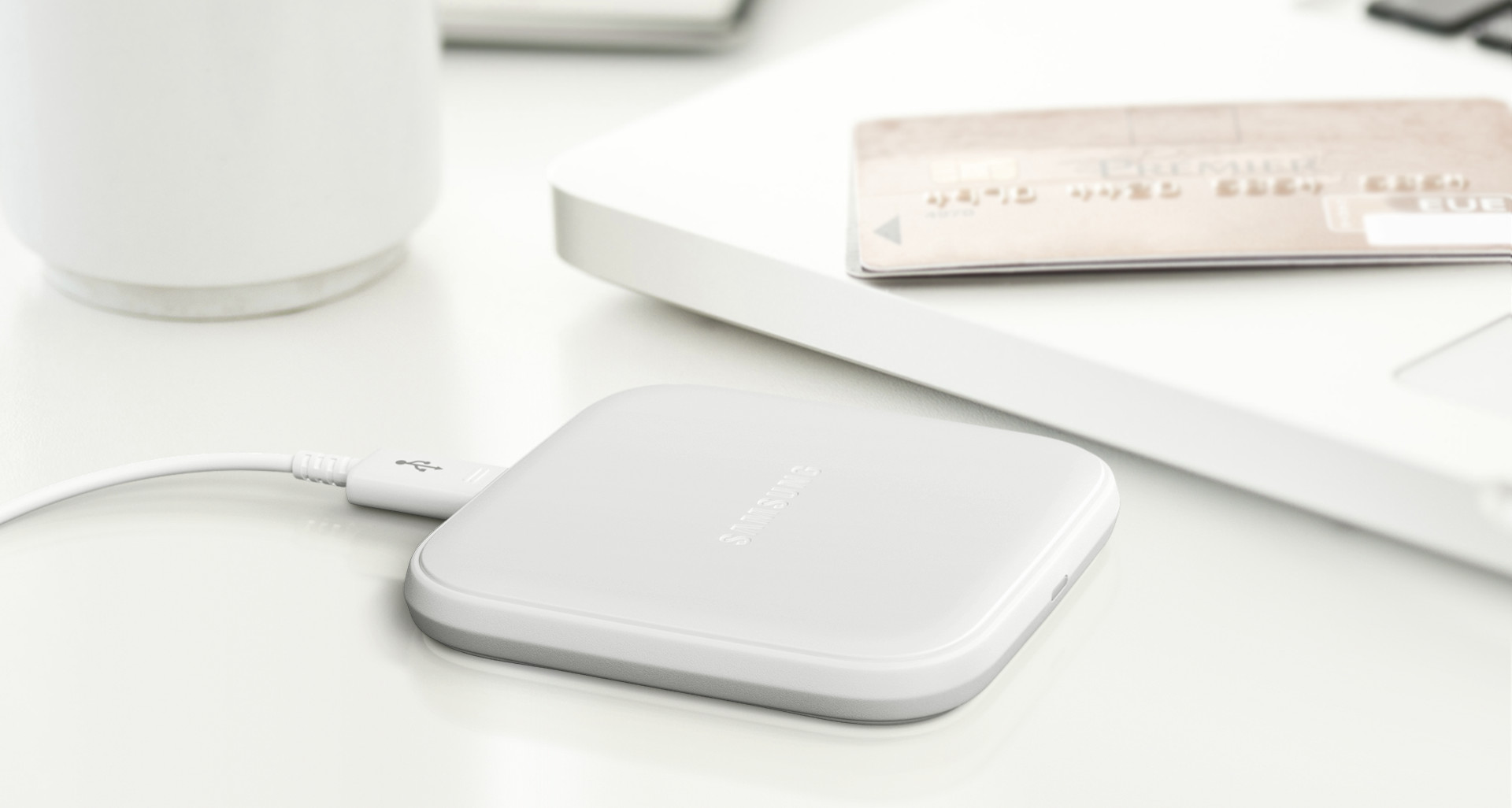 Official Samsung Qi Mini Wireless Charger - White
