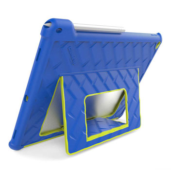Gumdrop Hideaway iPad Pro Stand Case - Royal Blue / Lime