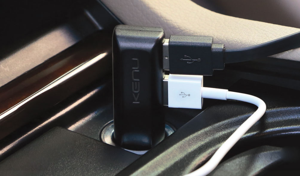 Kenu Airframe Plus Car Kit Car Mount & Fast Charger - Black