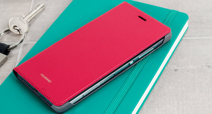 Official Huawei P8 Flip Cover Case - Red