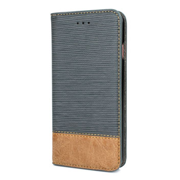 Olixar Premium Fabric iPhone 6S / 6 Wallet Case - Blue