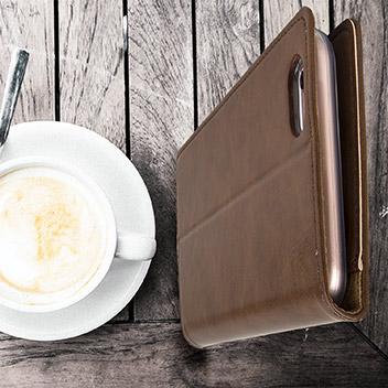 Mercury Blue Moon iPhone 6S Plus / 6 Plus Wallet Case - Brown