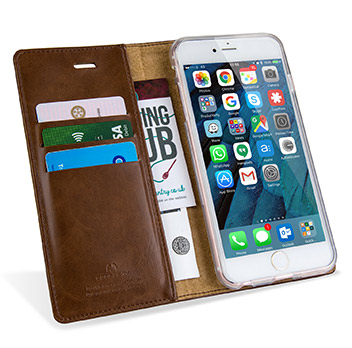 Mercury Blue Moon iPhone 6S / 6 Wallet Case - Brown