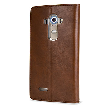 Mercury Blue Moon LG G4 Wallet Case - Brown