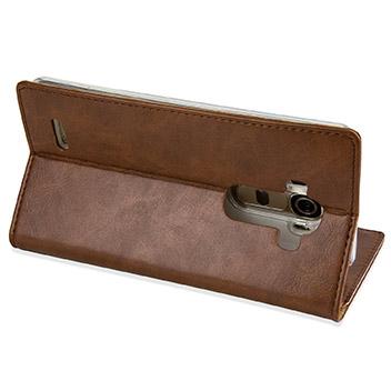 Mercury Blue Moon LG G4 Wallet Case - Brown