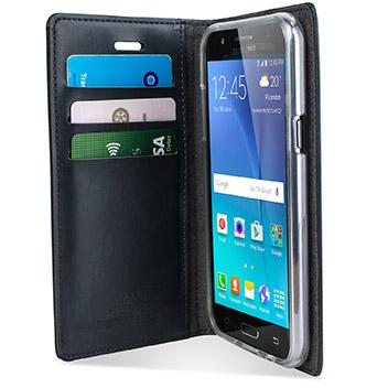 Mercury Blue Moon Samsung Galaxy J5 Wallet Case - Navy