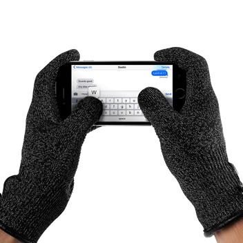 Proporta Unisex Touch Screen Gloves - Dark Grey