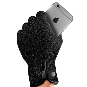 Mujjo Double-Layered Touchscreen Gloves - Black