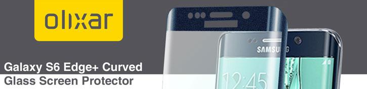 Olixar Galaxy S6 Edge Plus Curved Glass Screen Protector - Black Sapphire