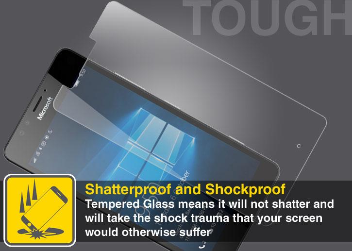 Olixar Microsoft Lumia 950 Tempered Glass Screen Protector