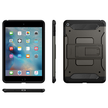 Spigen Tough Armor iPad Mini 4 Case - Smooth Black