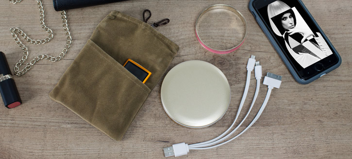 Hyper Pearl Compact Mirror Universal Power Bank - Gold