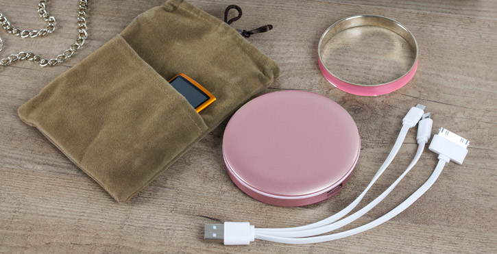 Hyper Pearl Compact Mirror Universal Power Bank - Rose Gold