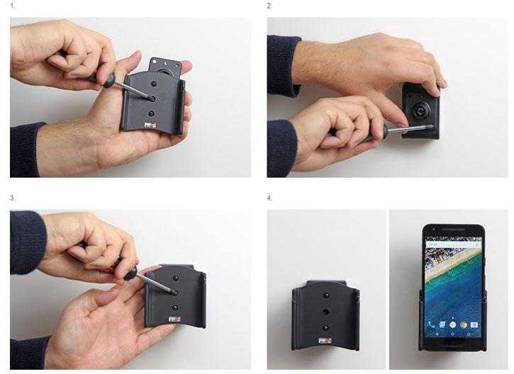Brodit Passive Nexus 5X In-Car Holder with Tilt Swivel