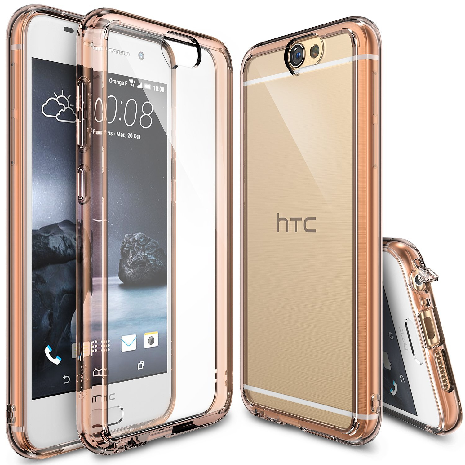 best website d1737 0365f Rearth Ringke Fusion HTC One A9 Case - Rose Gold Crystal