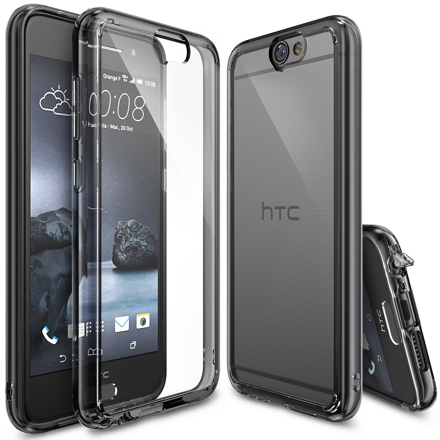 Rearth Ringke Fusion HTC One A9 Case - Smoke Black