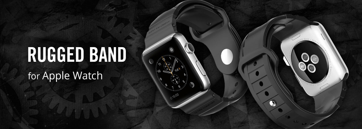 Bracelet Apple Watch 2 / 1 Spigen Rugged – 42mm - Noir
