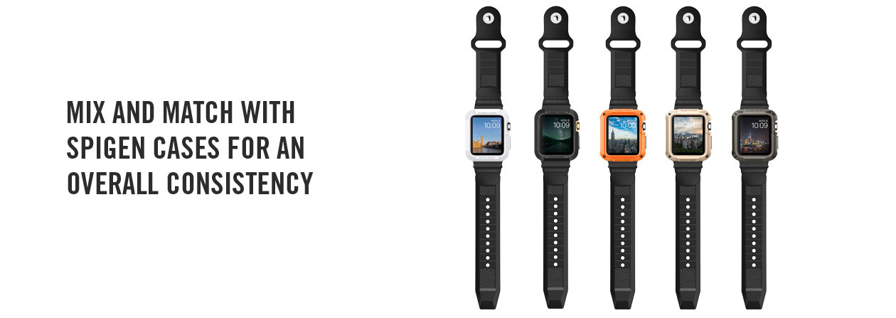 Spigen Rugged Apple Watch Strap - 42mm - Black