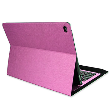 Ultra-Thin Alumnium Folding Keyboard iPad Pro Case - Pink