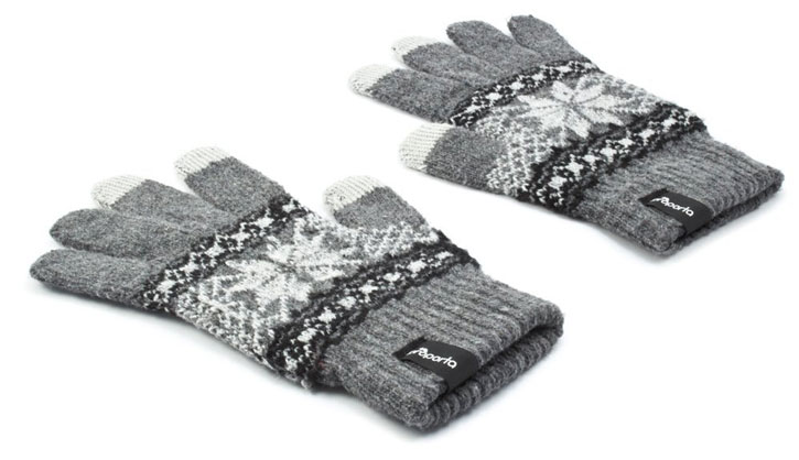 Proporta Unisex Touch Screen Gloves - Light Grey / White