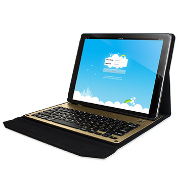 Ultra-Thin Alumnium Folding Keyboard iPad Pro Case - Gold