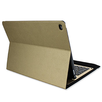 Ultra-Thin Alumnium Folding Keyboard iPad Pro Case - Gold