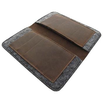 Valenta Universal 5 Inch Smartphone Genuine Leather Pouch - Black