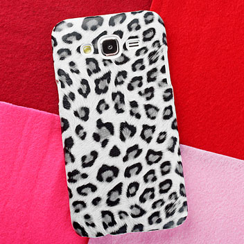 Olixar Samsung Galaxy J5 Animal Print Case - Snow Leopard