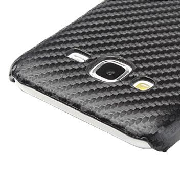 Olixar Carbon Fibre Print Samsung Galaxy J5 Case - Black